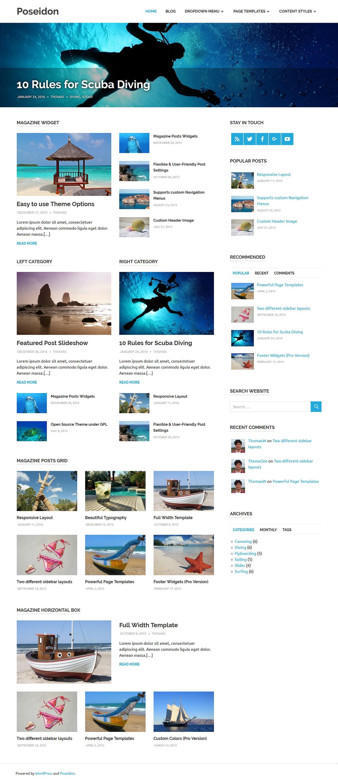 poseidon best free fullscreen wordpress theme - 10+ Best Free FullScreen WordPress Themes