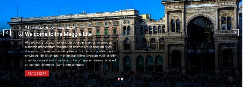 slider - Maggie Lite – free WordPress magazine theme with premium features