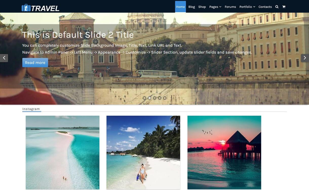 ftravel best travel blogs wordpress themes 1 - 21+ Best WordPress Travel Blog Themes 2019
