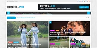 Editorial Pro - Premium Magazine WordPress Theme