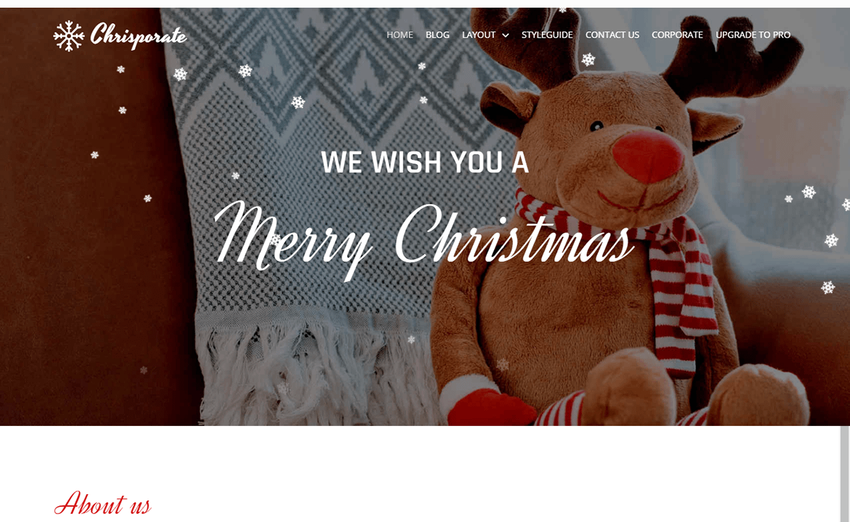 chrisporate free wordpress theme december - 20 Best Free WordPress Themes December 2017