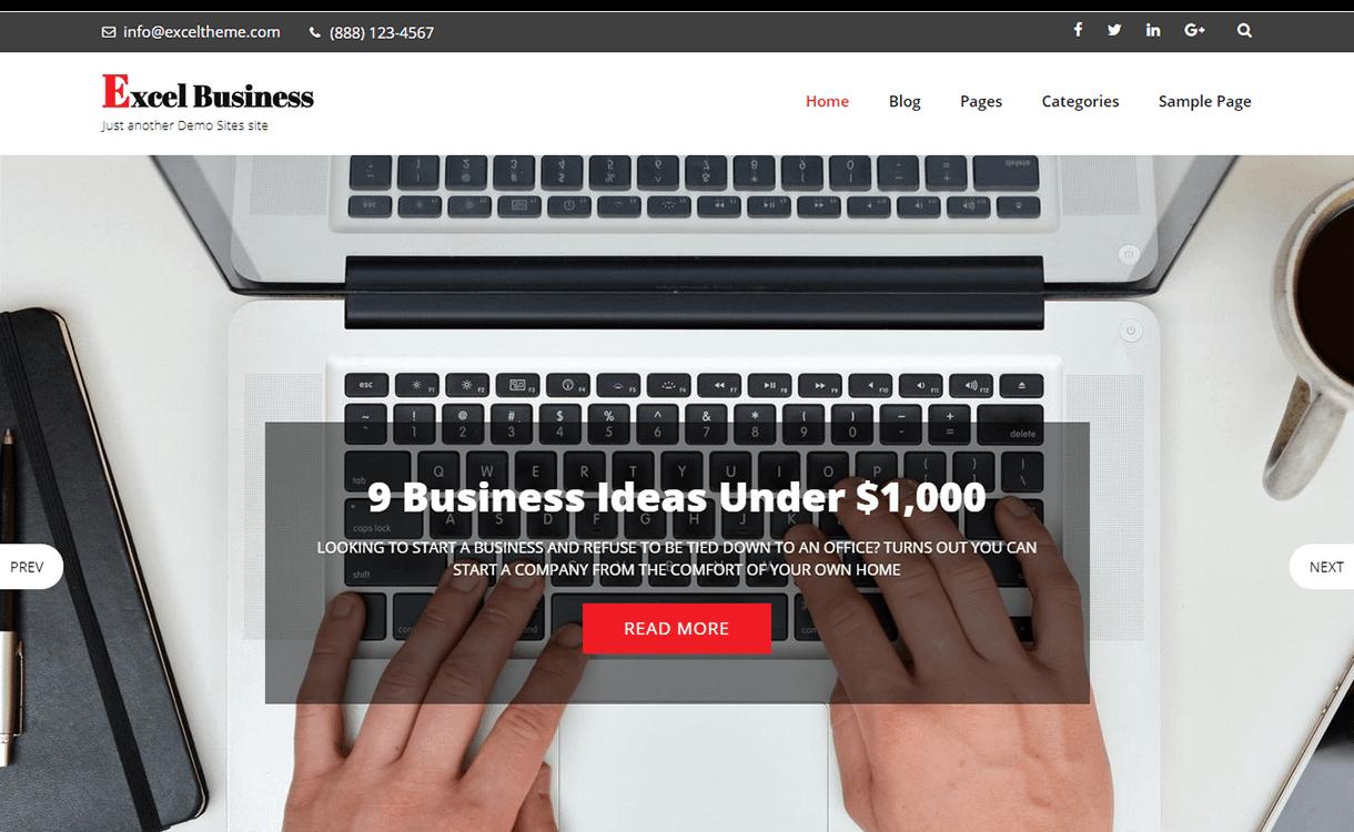 excel business free wordpress theme december - 20 Best Free WordPress Themes December 2017
