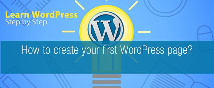 How to create your first WordPress page?