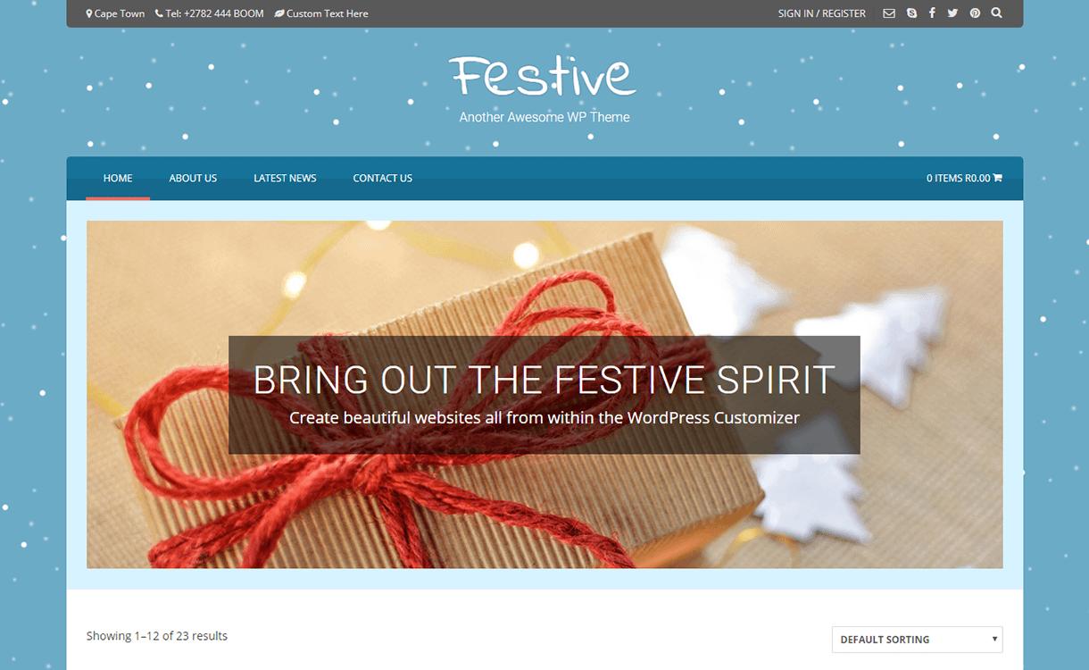 festive free wordpress theme december - 20 Best Free WordPress Themes December 2017