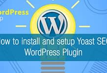 how to install and setup yoast seo wordpress plugin