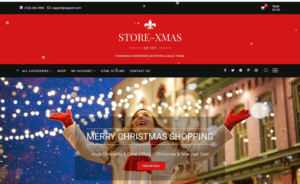 storexmas free wordpress theme december - 20 Best Free WordPress Themes December 2017