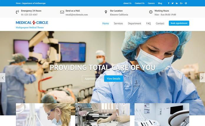 Medical Circle - Free WordPress Medical Theme