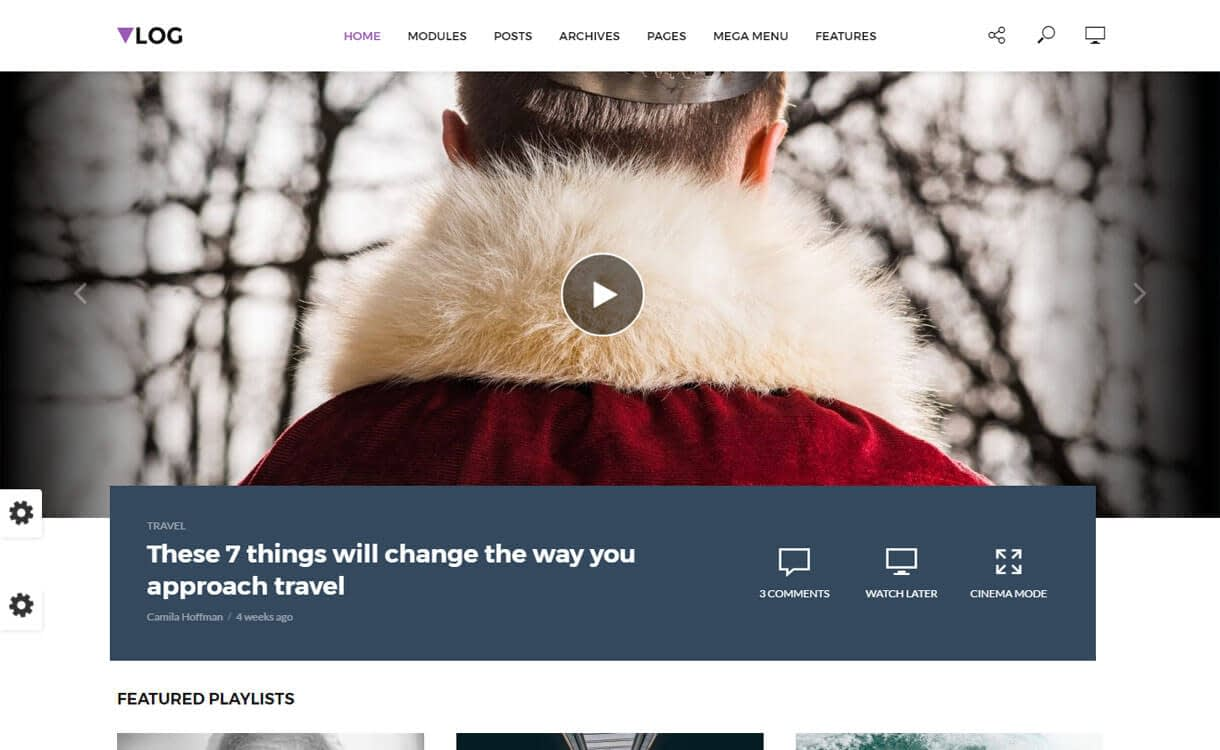 Vlog - 15+ Best Responsive WordPress Video Themes 2019