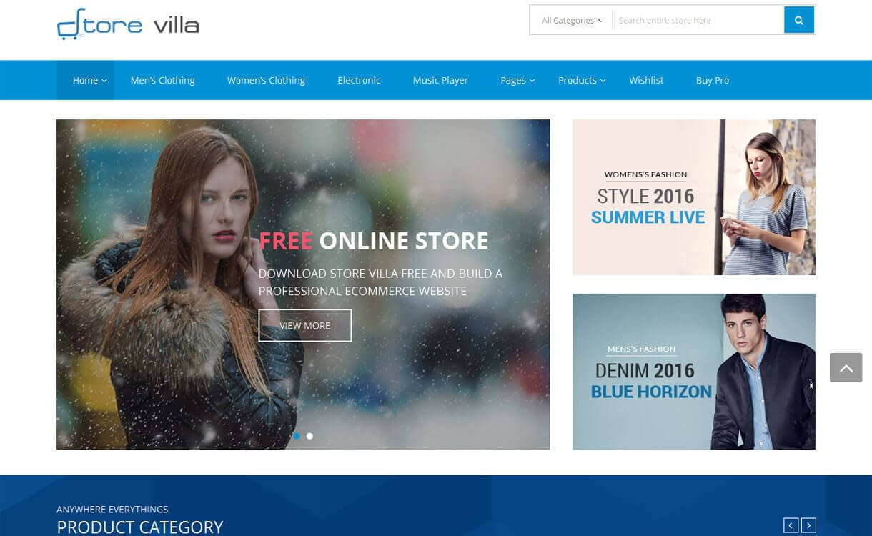 Store villa - 50+ Best Free Responsive WordPress Themes 2019