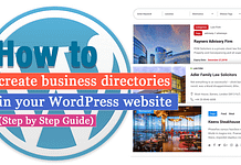 How to create Business Directories in your WordPress Website? (Step by Step Guide)
