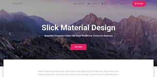 Hestia Pro - Best Premium One Page Material Design WordPress Theme
