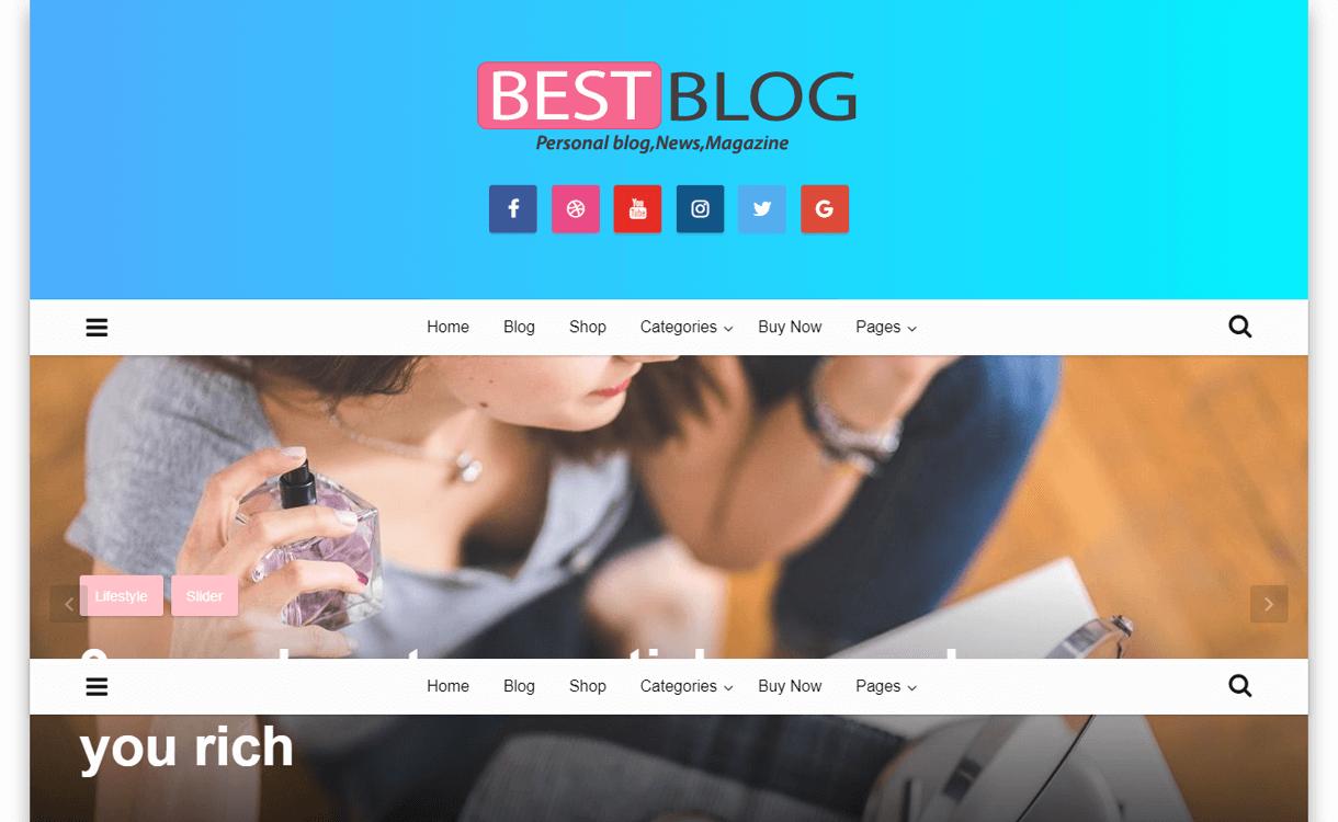 best blog best free wordpress themes january 2018 - 21+ Best Free WordPress Themes January 2018