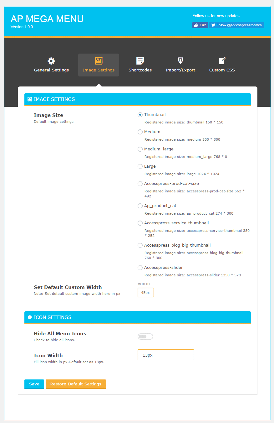 image settings - How to add Mega Menu on WordPress Website Using AP Mega Menu plugin? (Step by Step Guide)