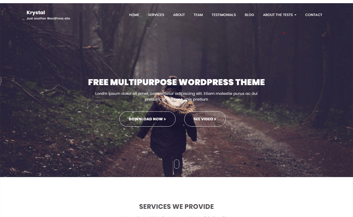krystal free wordpress theme - 21+ Best Free WordPress Themes November 2017