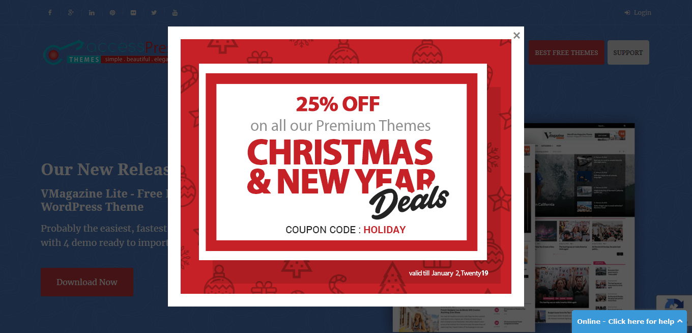 accesspress christmas deals - Best WordPress Deals for Christmas and New Year 2019