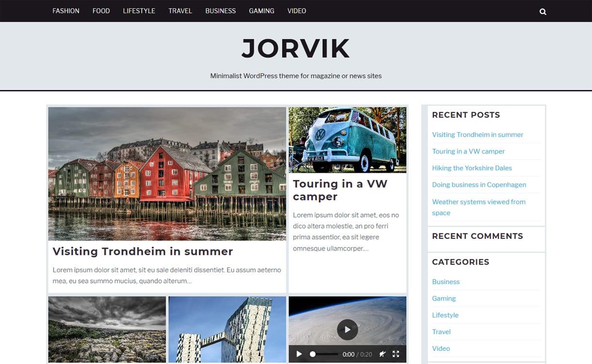 jorvik - 21+ Best Free WordPress Themes May 2018