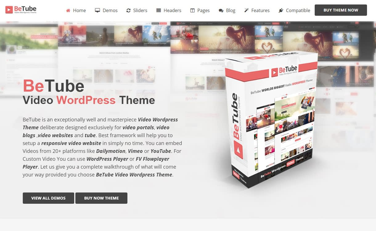 betube best video wordpress theme - 15+ Best Responsive WordPress Video Themes 2019