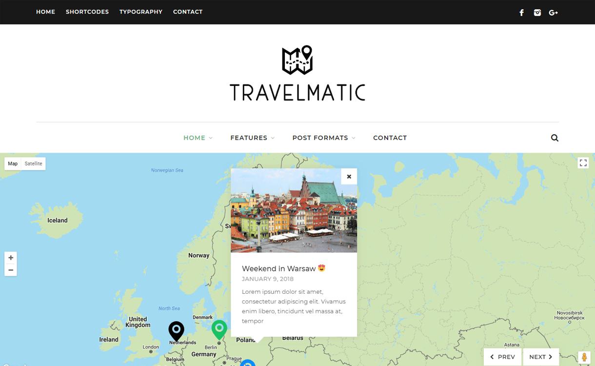 travelmatic best travel blogs wordpress themes 1 - 21+ Best WordPress Travel Blog Themes 2019