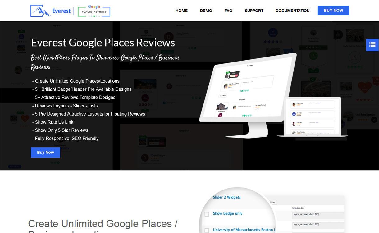 everest google places reviews best wordpress plugin to showcase google places business reviews - 5+ Best WordPress Google Places/Business Review Plugins