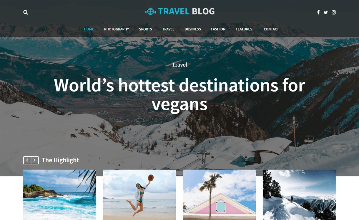 travel blog best travel blog wordpress themes 1 - 21+ Best WordPress Travel Blog Themes 2019