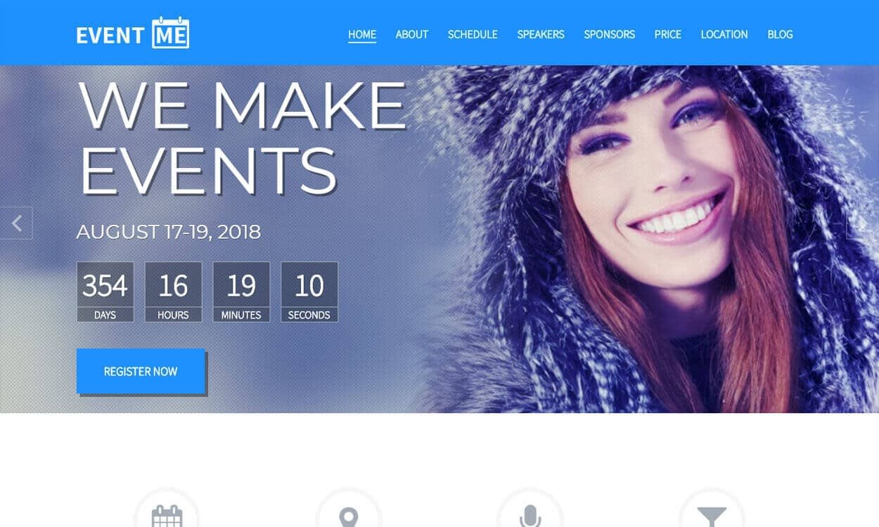 eventme - 10+ Best Coming Soon and Under Maintenance WordPress Themes and Templates(Premium Version)