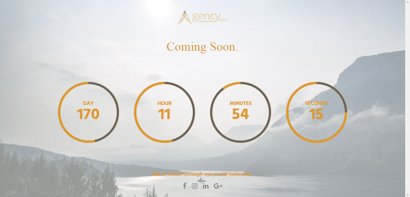agency pro best coming soon maintenance page wordpress themes templates 1 - 10+ Best Coming Soon and Under Maintenance WordPress Themes and Templates(Premium Version)