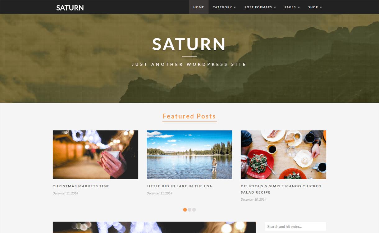 saturn best travel blogs wordpress themes 1 - 21+ Best WordPress Travel Blog Themes 2019