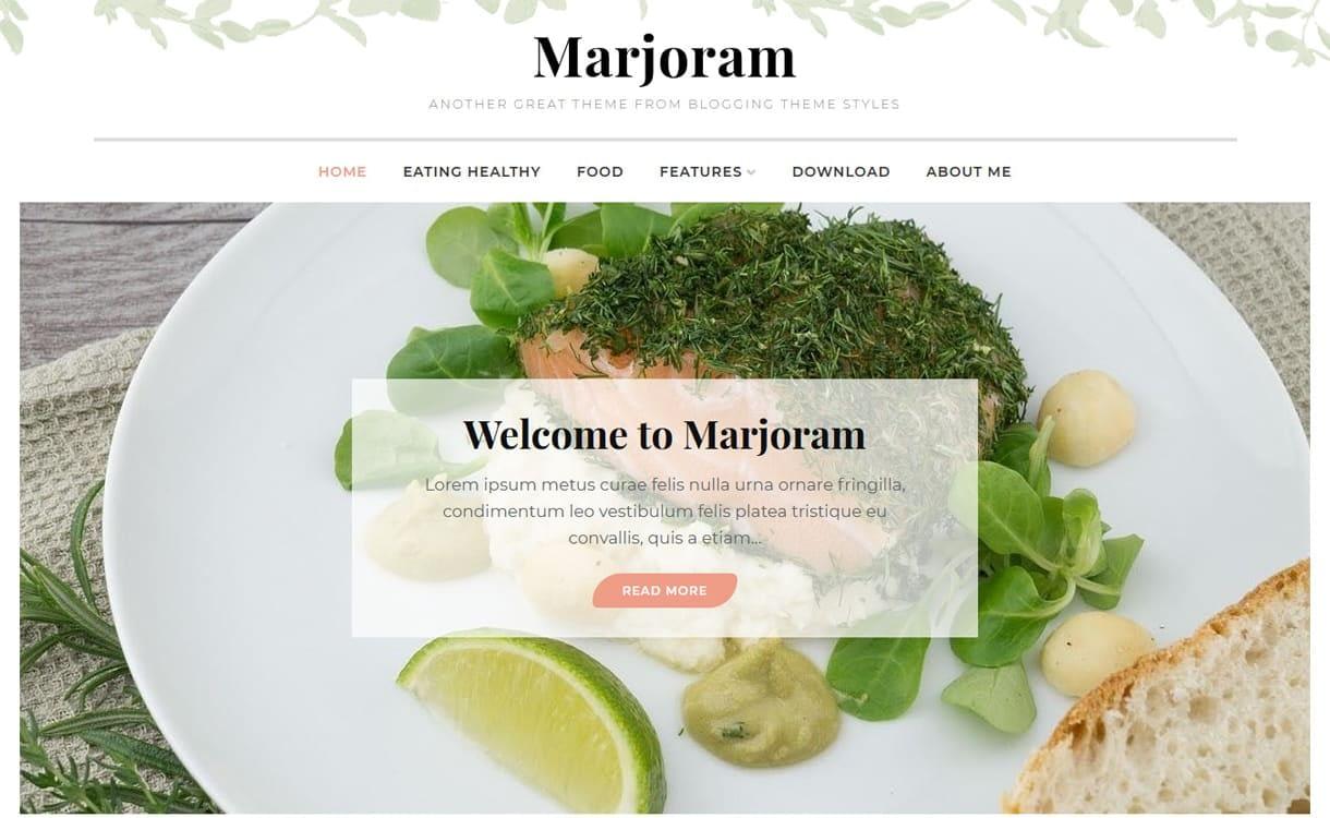 marjoram - 21+ Best Free WordPress Themes May 2018