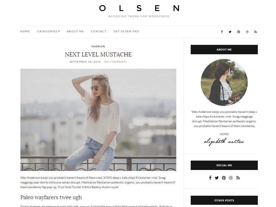 olsen-light - Free Photography WordPress Theme
