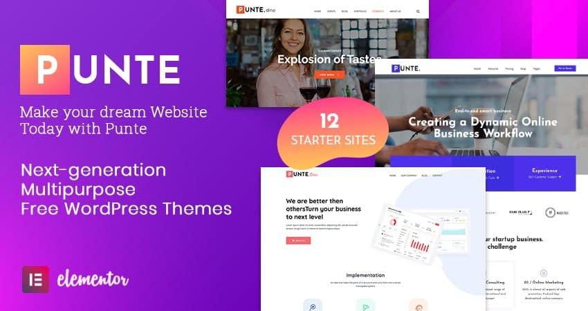 Punte - Free Multipurpose WordPress Theme