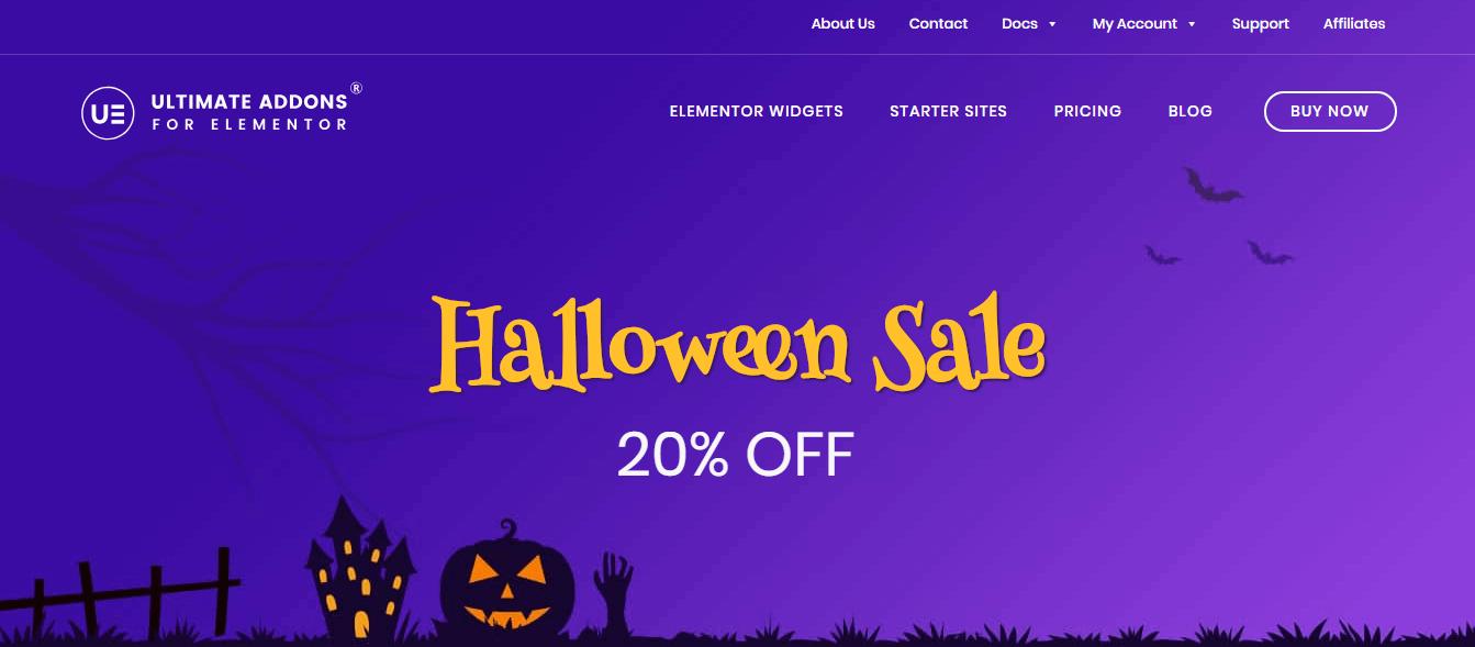 Best WordPress Deals and Discounts for Halloween - Ultimate Addon for Elementor