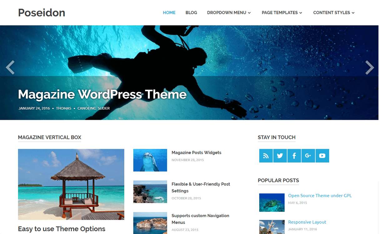 Poseidon-Best Free WordPress News-Magazine/Online Editorial Themes