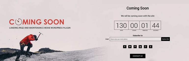 8Degree Coming Soon Page - Best Free WordPress Coming Soon/Maintenance Mode Plugins