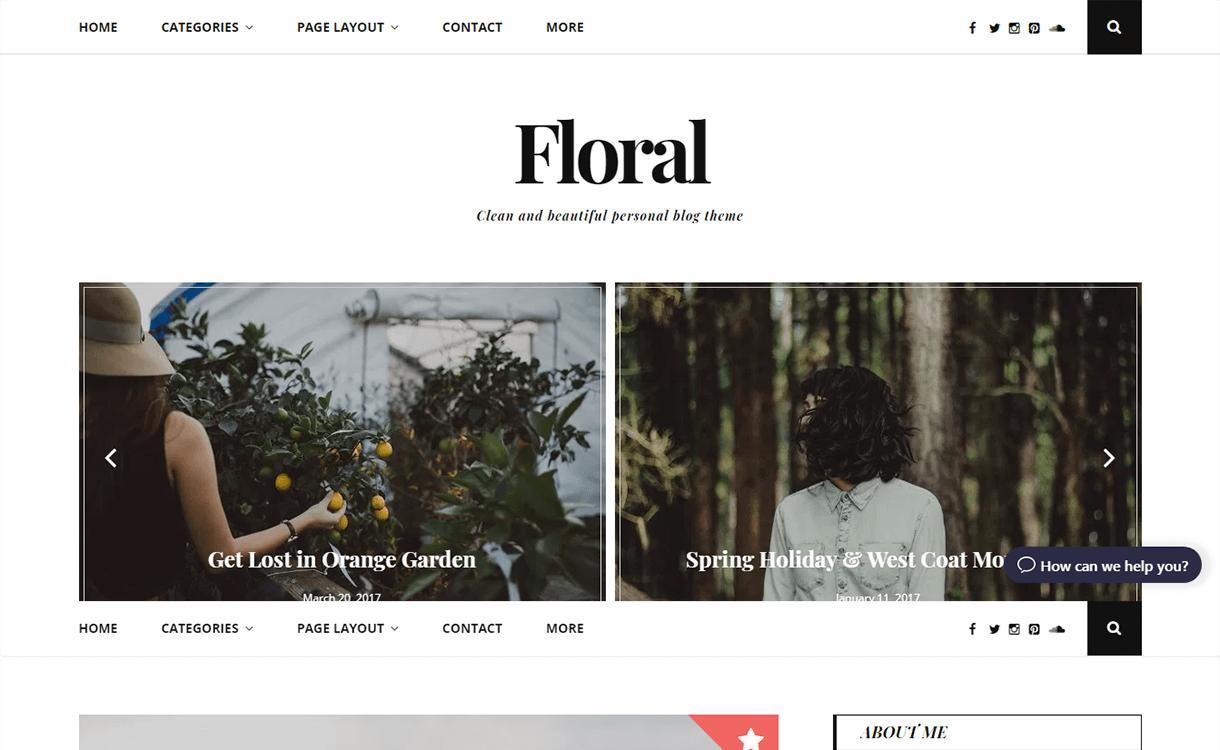 Floral Lite-Best Free WordPress Themes November 2017