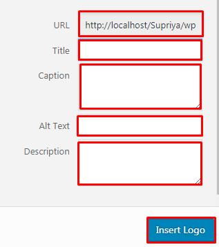 Showcase your logo in WordPress website.