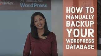 How to manually backup your Wordpress Database