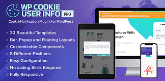 WP Cookie User Info Pro - WordPress Cookie Notification Plugin