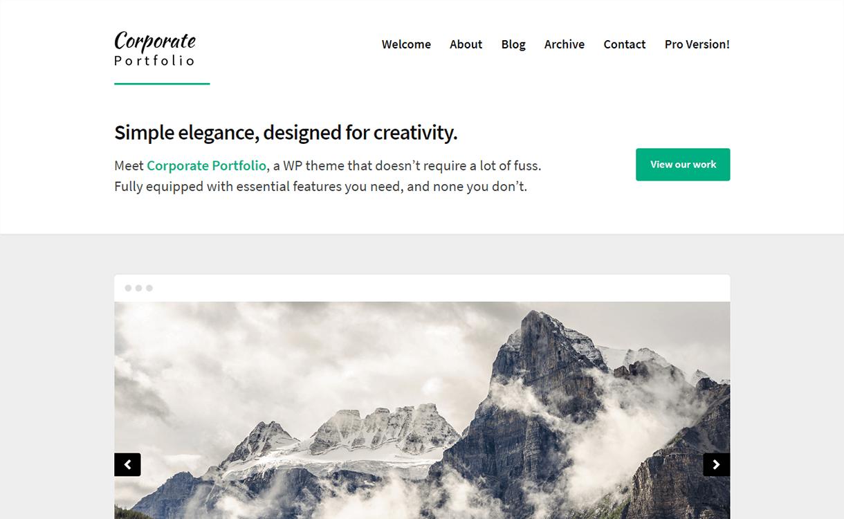 Corporate Portfolio-Free WordPress Portfolio Themes