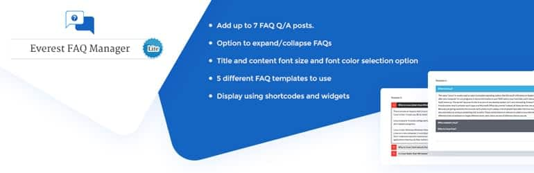 Everest FAQ Manager Lite - Free WordPress FAQ Plugins