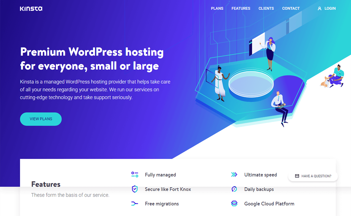 2 Free Months of Hosting by Kinsta