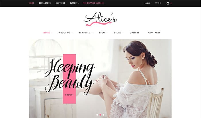 Alice's - Best Selling WordPress Themes in Themeforest 2018