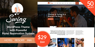 Swing WordPress Resort and Hotel Theme