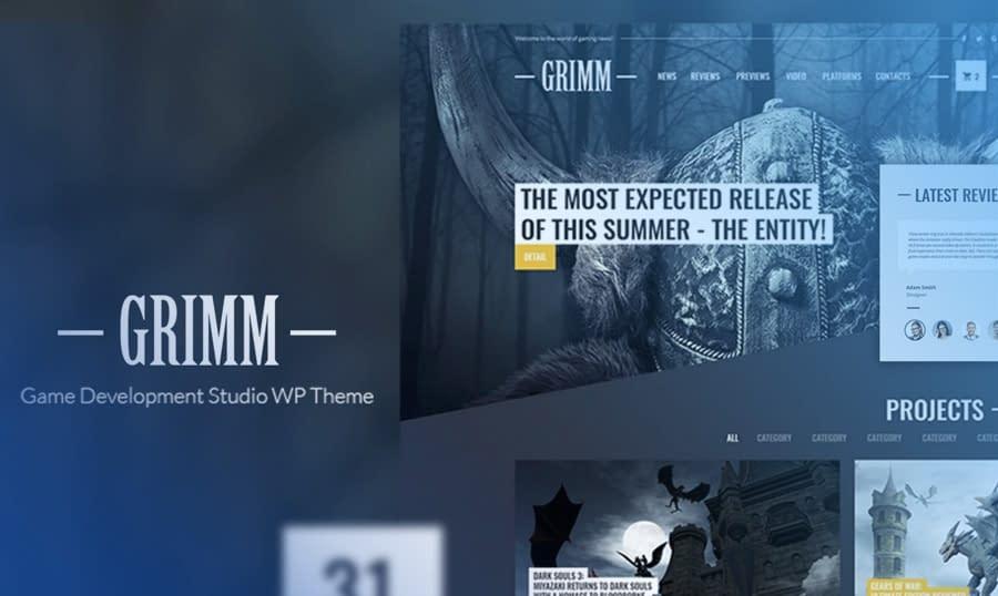 GrimmLite - Gamer Blog Free WordPress Theme