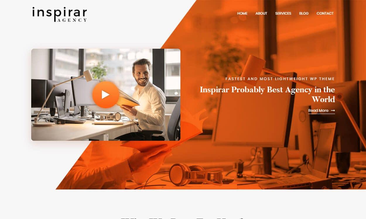 Inspirar - Best Free WordPress Themes August