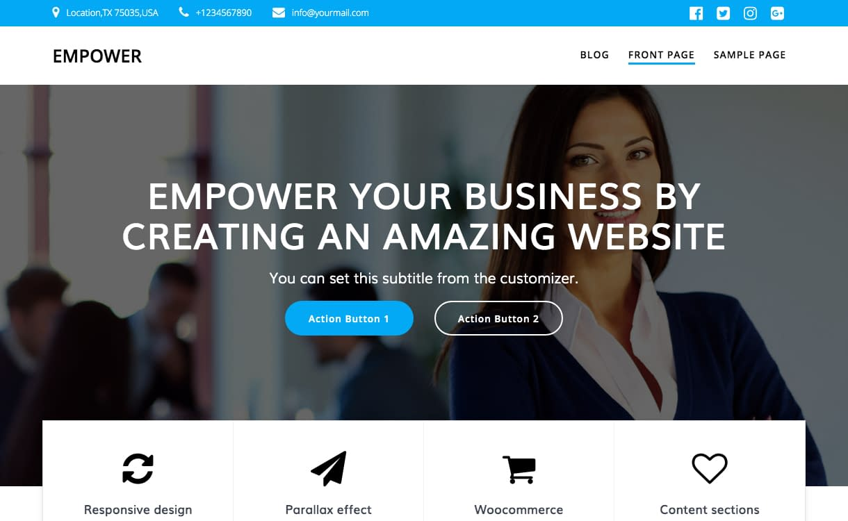 15+ Best Free Responsive WordPress Business Themes 2020