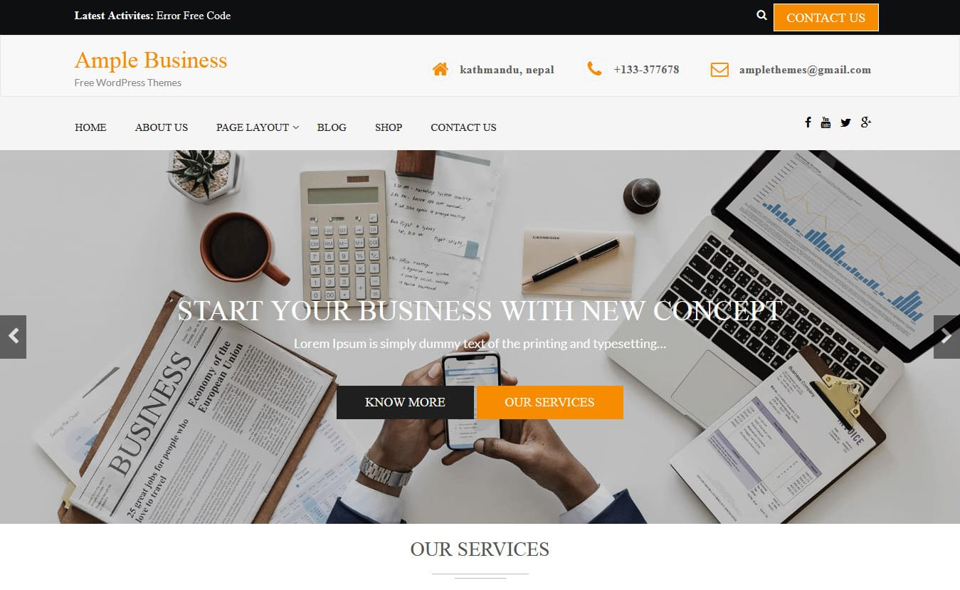 Ample Business - Free Consulting WordPress Theme