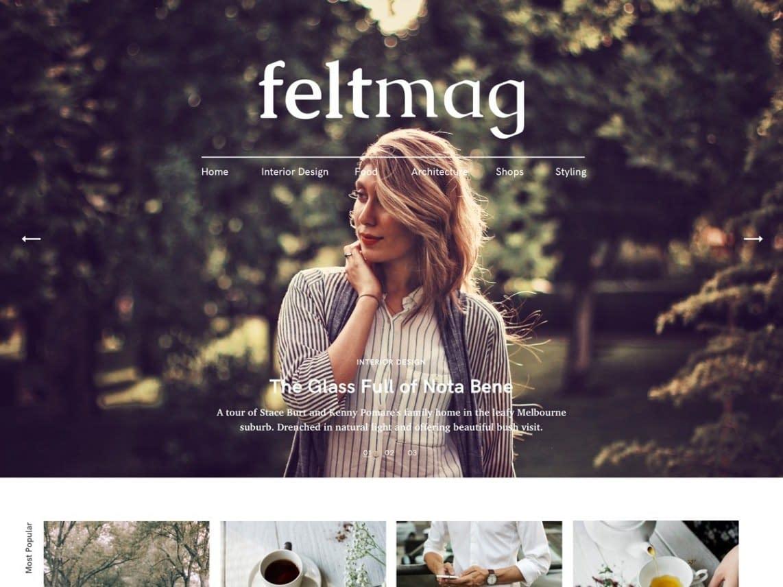 Felt Free responsive WordPress theme