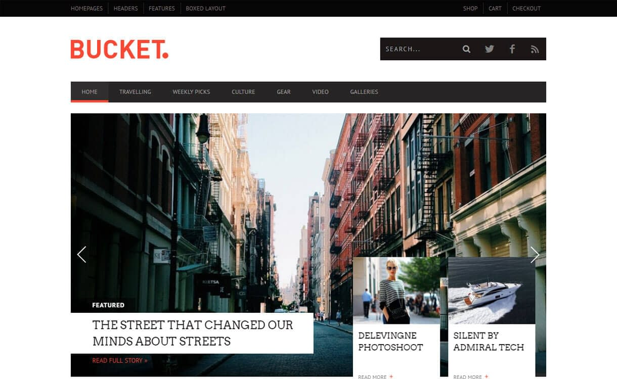 Bucket - Best Premium WordPress News-Magazine, Editorial Themes 2017