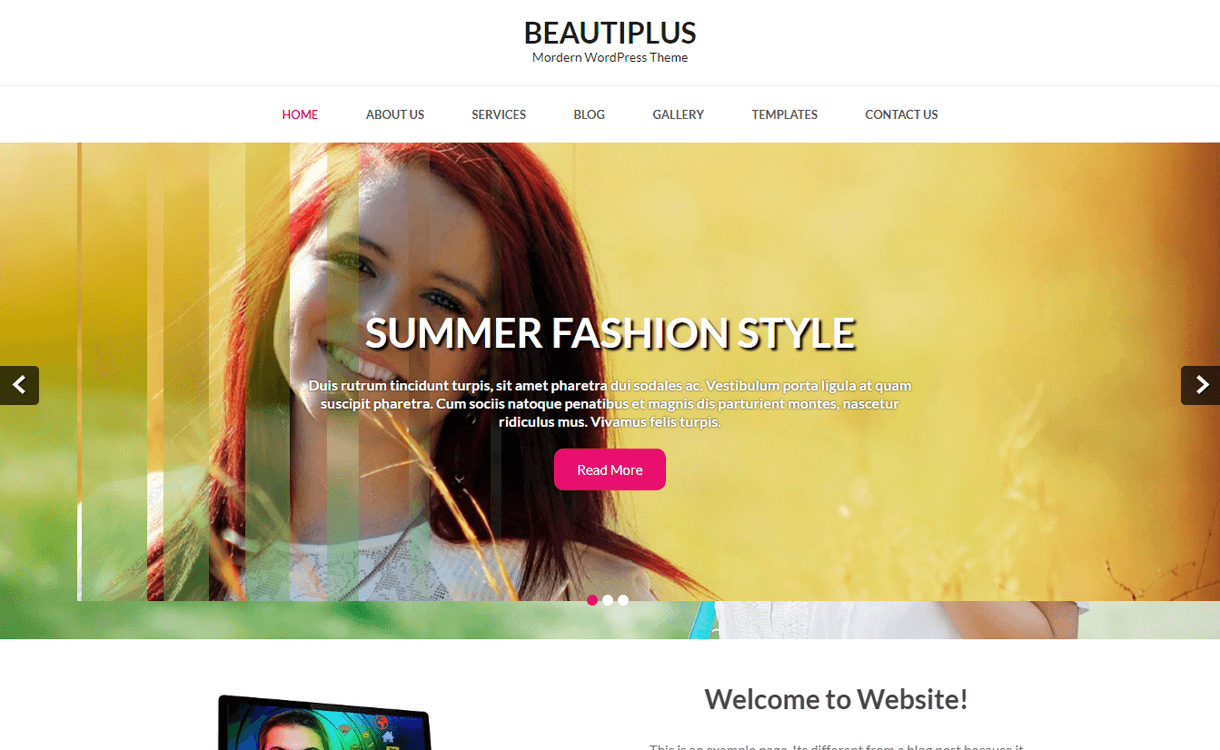 Beautiplus-Best Free WordPress Photography Themes