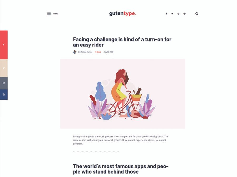 Gutentype A Trendy Gutenberg WordPress Theme for Modern Blog